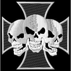 Cross 3 skulls