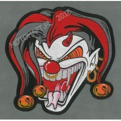 Killer Clown Jester Face XL